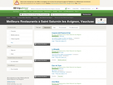 Les 10 meilleurs restaurants à Saint Saturnin...