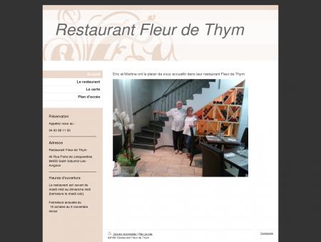 Restaurant Fleur de Thym saint saturnin les...