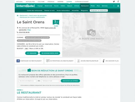 Le Saint Orens, restaurant de cuisine...