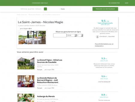 Restaurant Le Saint-James   le-saint-james.lafourchette.com