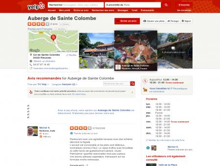 Auberge de Sainte Colombe - Restaurant -...