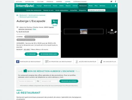 Auberge L'Escapade, restaurant...