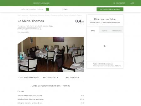 Restaurant Le Saint-Thomas à Gruchet-le...