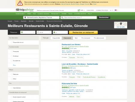 Les 10 meilleurs restaurants à Sainte-Eulalie -...