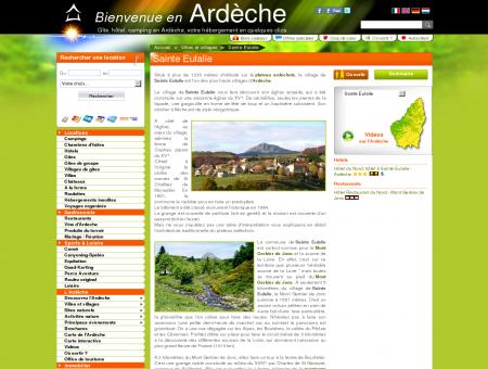 Sainte Eulalie - Gite Ardèche, camping...