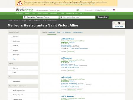 Les 5 meilleurs restaurants à Saint Victor -...