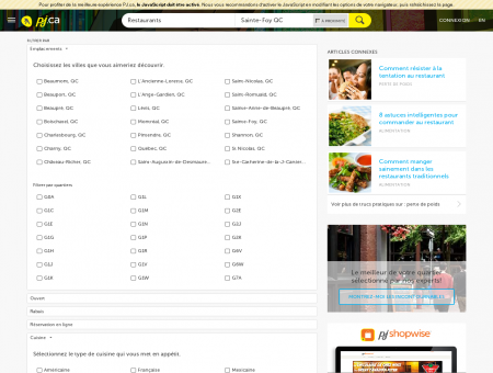 Restaurants à Sainte-Foy QC |...