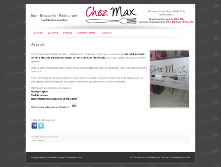 Bar Brasserie Restaurant Chez Max à Saint...