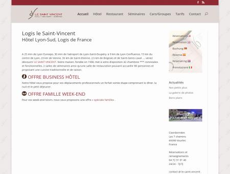 Hotel LYON Sud - Logis Saint Vincent à Vourles