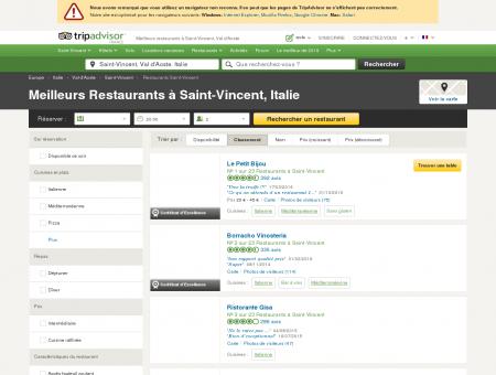 Les 10 meilleurs restaurants à Saint-Vincent -...