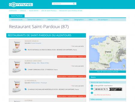 Restaurants à Saint-Pardoux (Haute-Vienne) :...