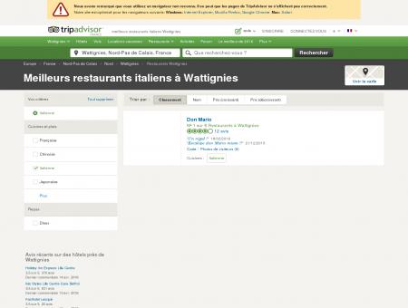 Les meilleurs restaurants italiens Wattignies -...