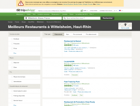 Les 5 meilleurs restaurants à Wittelsheim -...