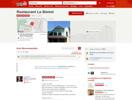 Restaurant Le Bémol - Restaurant - 238 Rue...