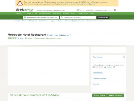 Metropole Hotel Restaurant, Bagnères-de...