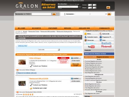 Restaurants Bagnères-de-Luchon guide...