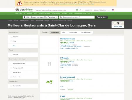 Les meilleurs restaurants à Saint-Clar de...
