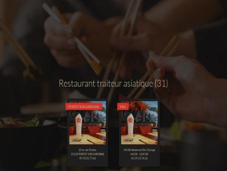 Restaurant traiteur asiatique, grillades - Portet...