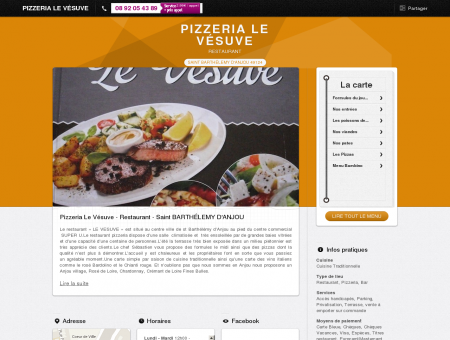 Pizzeria Le Vésuve Restaurant Saint...