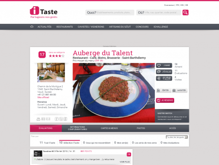 Restaurant Auberge du Talent à Saint...
