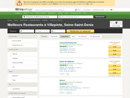 Les 10 meilleurs restaurants à Villepinte -...