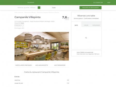Restaurant Campanile Villepinte à Villepinte ...