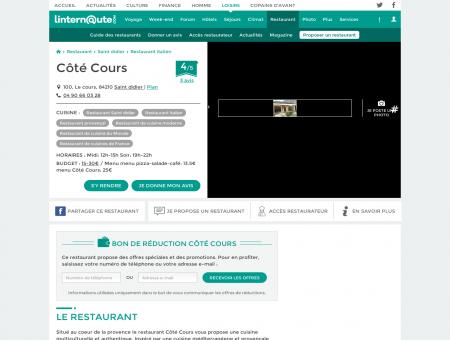 Côté Cours, restaurant de cuisine moderne à...