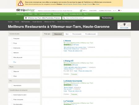 Les 5 meilleurs restaurants à Villemur-sur...