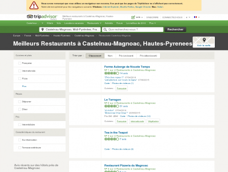 Les meilleurs restaurants à Castelnau...
