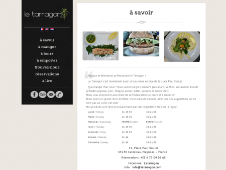Restaurant le tarragon | Brasserie