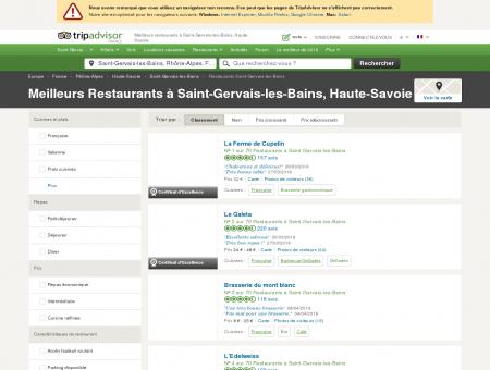 Les 10 meilleurs restaurants à Saint-Gervais...