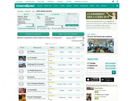 Restaurant Saint Amand Les Eaux : Le guide...
