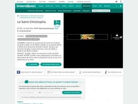 Le Saint Christophe, restaurant de cuisine...