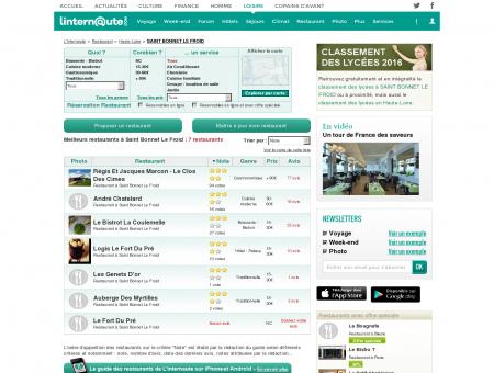 Restaurant Saint Bonnet Le Froid : Le guide...
