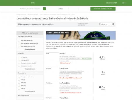 Les 10 meilleurs restaurants Saint-Germain...