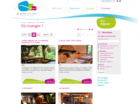 Où manger    Val de Cher Saint-Aignan