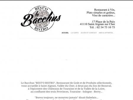 Restaurant Le Bacchus Saint Aignan sur Cher 41