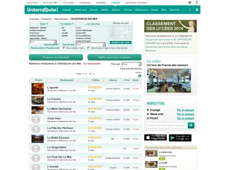 Restaurant Villefranche Sur Mer : Le guide...