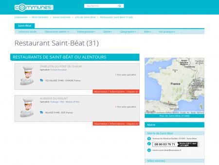Restaurant Saint-Béat (31) - Communes.com :...