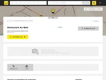 Restaurant Au Bois Yutz (adresse, horaires,...