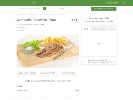 Restaurant Campanile Thionville - Yutz à Yutz ...