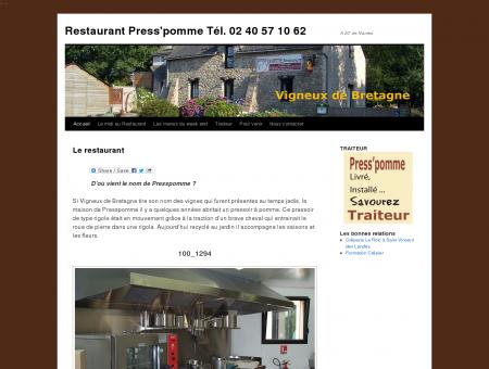 Restaurant PressPomme à Vigneux de...