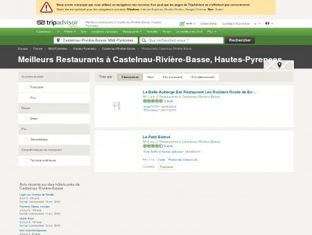 Les meilleurs restaurants à Castelnau-Rivière...