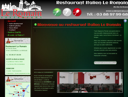 Restaurant Le Romain à Schirmeck - Accueil