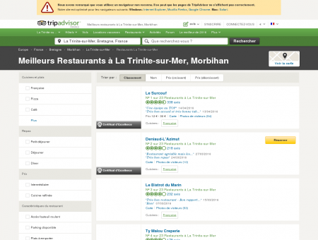 Les 10 meilleurs restaurants à La Trinite-sur...