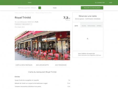 Restaurant Royal Trinité à Paris 9ème : Saint...