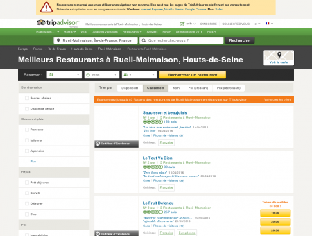 Les 10 meilleurs restaurants à Rueil...