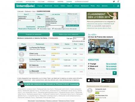 Restaurant Valence Sur Baise : Le guide des...