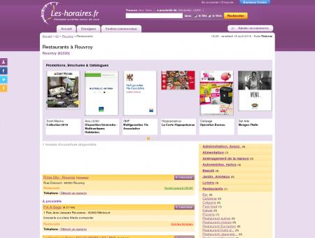 Restaurants à Rouvroy | Les-horaires.fr