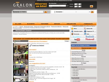 restaurant Aux Chandeliers Rouvroy-sur...